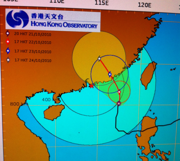 Tropical Cyclone Projected Path